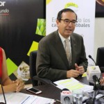 El ministro de Comercio Exterior, Juan Carlos Cassinelli (centro), dijo que el foro es una buena oportunidad para que el sector amplíe su mercado. Foto: CORTESÍA