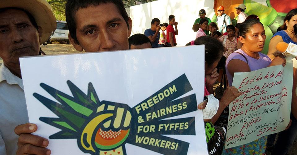 Honduras: Fyffes monta sindicatos paralelos
